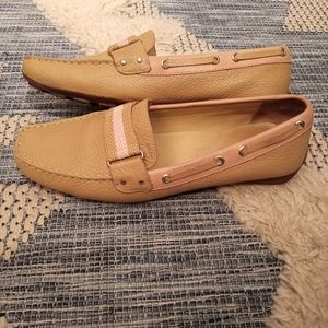 Geox tan/pink loafers size 10